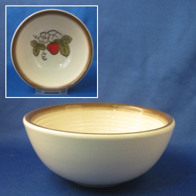 Metlox California Strawberry coupe cereal bowl