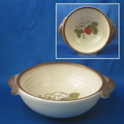 Metlox California Strawberry lugged cereal bowl