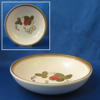 Metlox California Strawberry coupe soup bowl