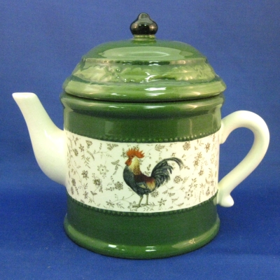 Green rooster teapot - Michel & Company