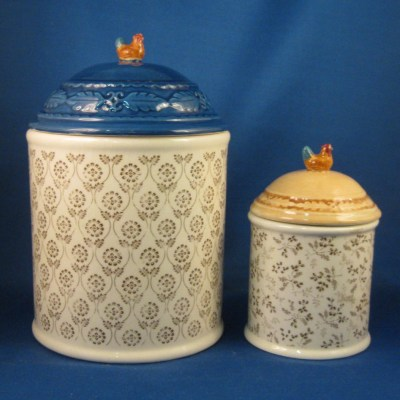 Michel & Company rooster canister - Short