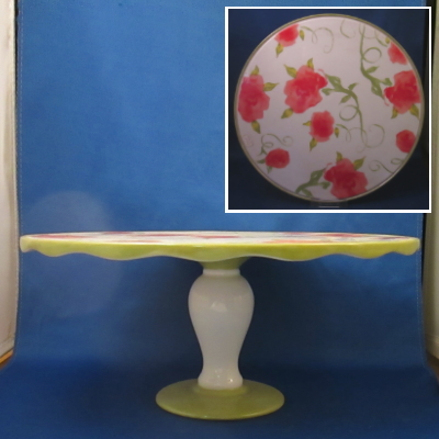 Ganz/Midwest floral cake stand