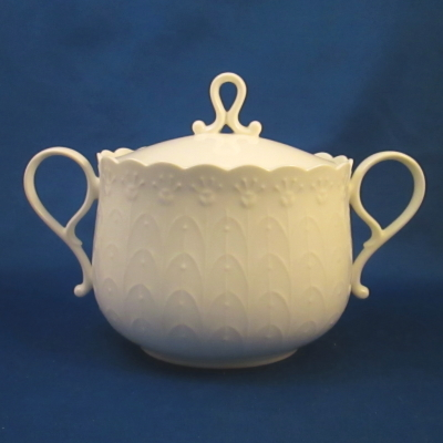 Mikasa White Silk sugar bowl with lid