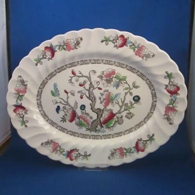 Myott Indian Tree-Swirl small oval platter