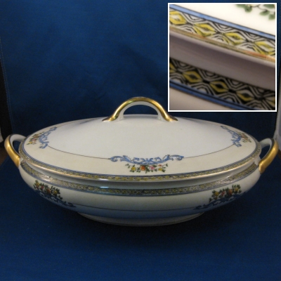 Noritake N850 oval covered vegetable bowl