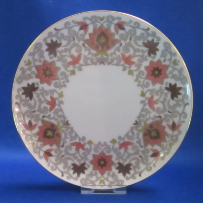 Narumi UNKNOWN (rust flowers, gray scrolls) bread & butter plate
