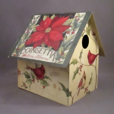 Winter Floral Birdhouse (short)