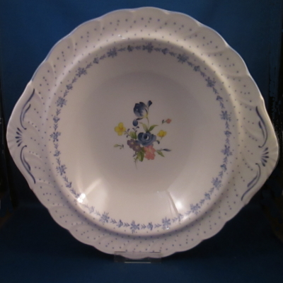 Nikko Blue Peony Round Vegetable Bowl with Handles