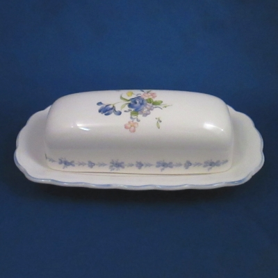 Nikko Blue Peony covered butter dish