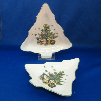 Nikko Christmastime set of 2 tree candy dishes - $33.00 : Hoffman\'s ...
