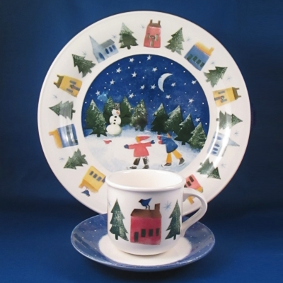 Nikko Winter Wonderland 3 piece buffet set