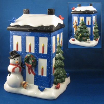 Nikko Winter Wonderland Holiday House cookie jar