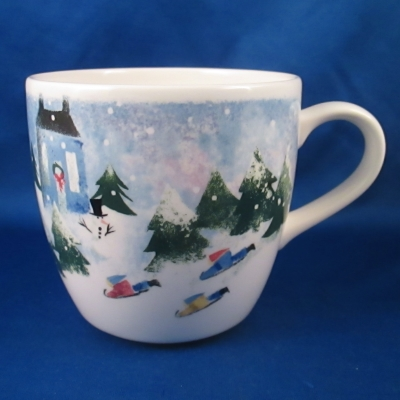 Nikko Winter Wonderland mug (Sledding)