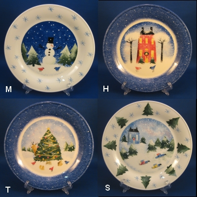 Nikko Winter Wonderland set of 4 accent salad/dessert plates