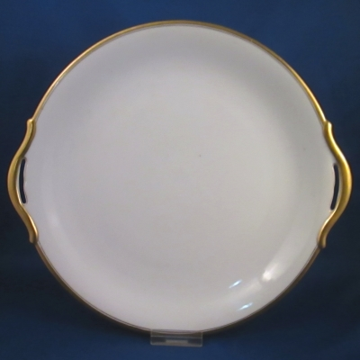 Nippon Unknown (Gold Trim) handled cake plate