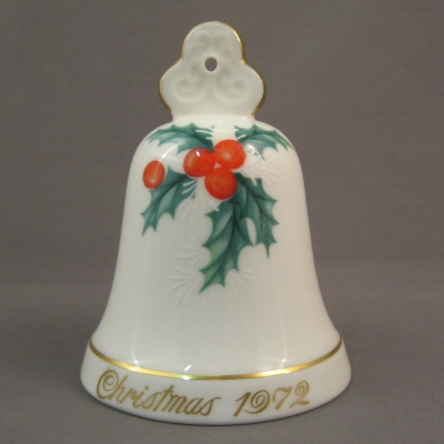 1972 Noritake Christmas Bell - Holly