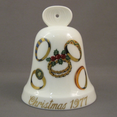 1977 Noritake Christmas Bell - 5 Gold Rings