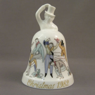 1982 Noritake Christmas Bell - 10 Lords a-Leaping