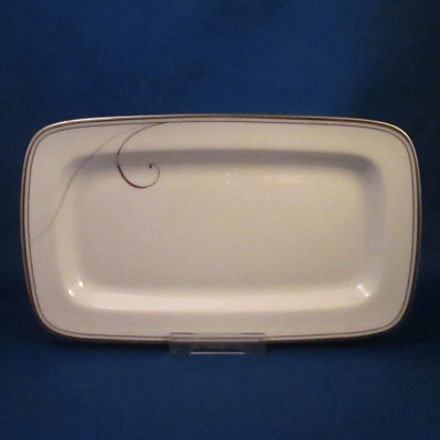 Noritake Platinum Wave butter/relish tray