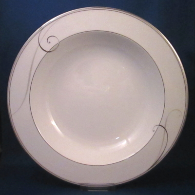 Noritake Platinum Wave pasta serving bowl - Click Image to Close