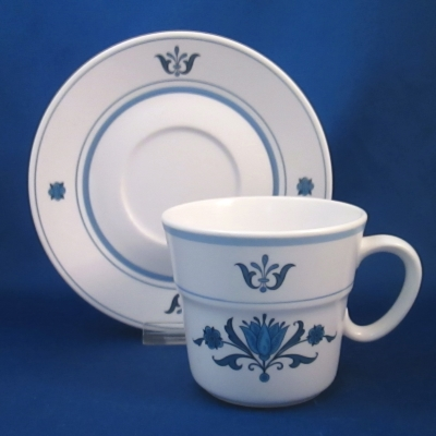 Noritake Blue Haven cup & saucer