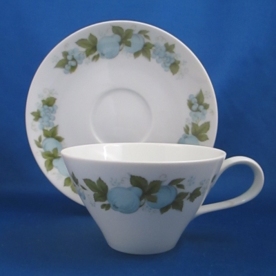 Noritake Blue Orchard cup & saucer