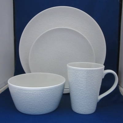 Noritake WoW Snow Coupe 4 piece place setting