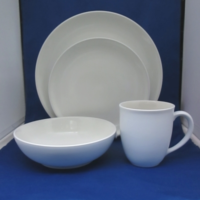 Noritake Colorwave White 4 piece place setting