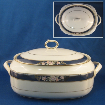 Noritake Imperial Gate oval covered vegetable bowl