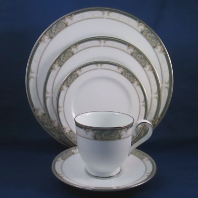 Noritake Imperial Jade 5 piece place setting
