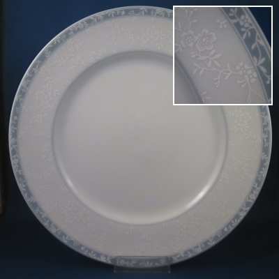 Noritake Lace Shadow dinner and bread & butter plates