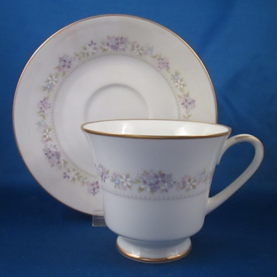 Noritake Lilac Time cup and saucer