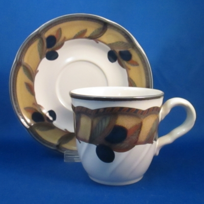 Noritake Olive Wreath cup & saucer