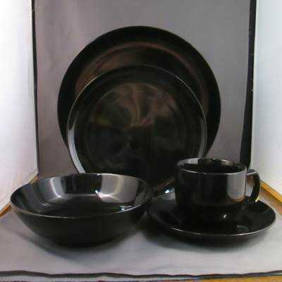 Noritake Options Black 5 piece place setting