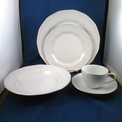 Noritake Pacific Hill Gold 5 piece place setting