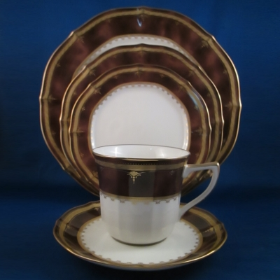 Noritake Solemn Amber 5 piece place setting