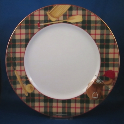 Noritake Sports Page dinner plate