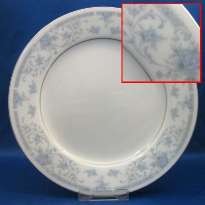 Noritake String of Pearls salad plate