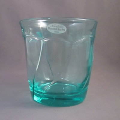 Noritake Sweet Swirl Aqua double old fashioned