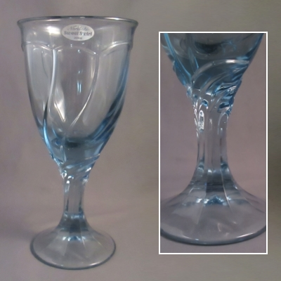 Noritake Sweet Swirl Light Blue goblet