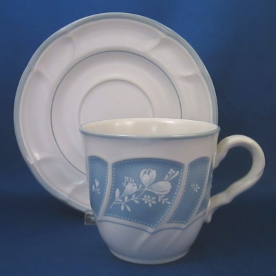 Noritake Victory Blue cup & saucer