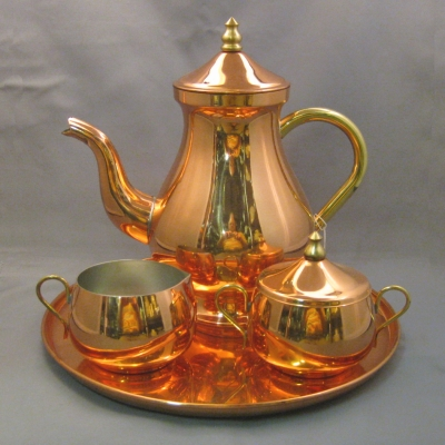 Old Dutch copper coffee set