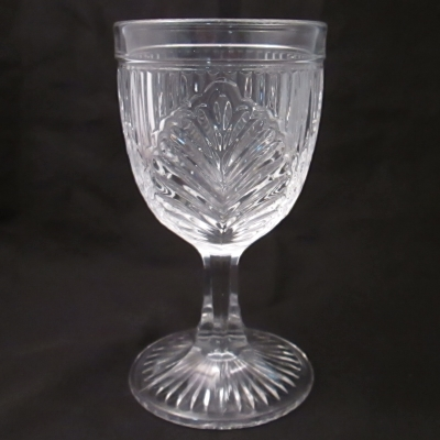 Old Sturbridge Village reproduction ribbed palm water goblet