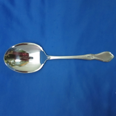 Oneida Morning Blossom (black accent) casserole spoon