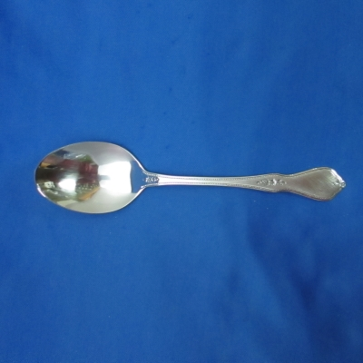 Oneida Morning Blossom (black accent) place/oval soup spoon