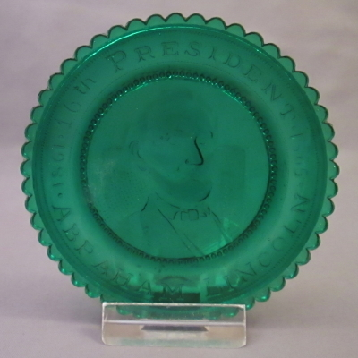 Abraham Lincoln cup plate (green)
