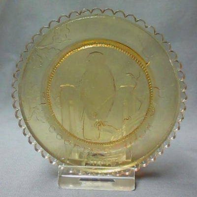 Cooper's Hawk cup plate (amber)