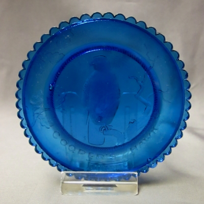 Cooper's Hawk cup plate (blue)