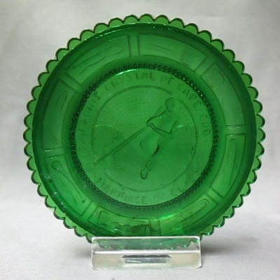 Marriage of Glass cup plate (green)