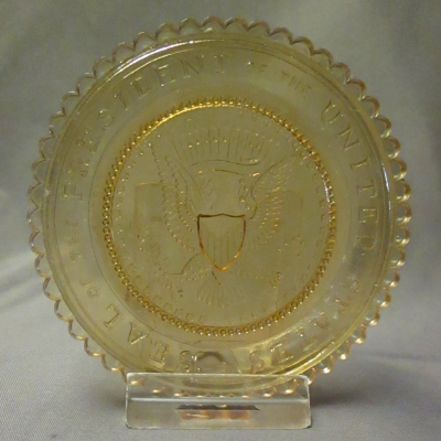 Presidential Seal cup plate (amber)